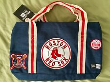 New Era MLB Boston Red Sox Heritage Patch Duffel Bag Team Colors Blue NEW NWT