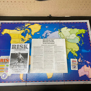 RISK 1998 Replacement Parts Board Game War-Mission Cards,Gameboard & Instruction