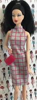 Barbie Doll Clothes Pink Gray Dress Purse fits Model Muse Fashionista Mattel Lot