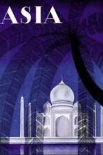 ASIA MAGAZINE COVER, TAJ MAHAL AT NIGHT, AGRA, ART DECO, FRIDGE MAGNET