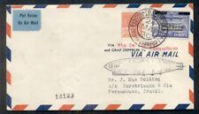 Brazil 1930, Zeppelin Flight franked w/scarcer Sc #4Cl4 ($400) proper markings