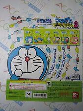 Doraemon Tsunagete Doraemon Part 2 Gashapon Toy Machine Paper Card Bandai Japan