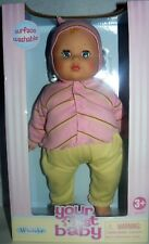 """Madame Alexander Your First Baby 14"""" Soft Body Surface Washable Doll"""