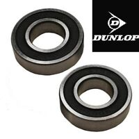 TWO DUNLOP BLACK RUBBER SEALED BEARINGS FOR A RIKO BRANO PUSHCHAIR FRONT WHEEL