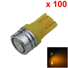 100x Yellow Car T10 W5W Generation Bulb Interior Light 1 COB SMD LED A069