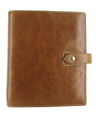 Filofax Malden Ochre A5 Size Organiser Real Brown Buffalo Leather Diary 425847
