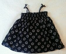 New Baby Gap Girls Black and Ivory Two Piece Boho Sun Dress Set 3 - 6 Months