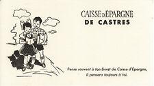 Buvard Caisse d'épargne de Castre