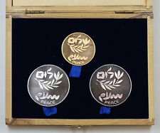1980 Israel Gold & Silver Commemorative Coins, 32nd Independence Day