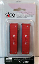 N Scale KATO 40ft. Intermodal Containers 'K-Line' (2) Item #23-507C