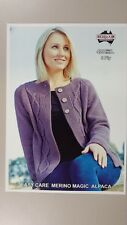 61831b215d02a Heirloom Knitting Pattern  428 Ladies Cable Panel Cardigan to Knit in 8 Ply