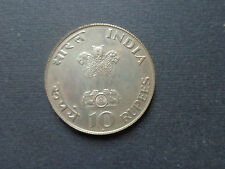 10 RUPEES INDIA 1948 MAHATMA GANDHI  ARGENTO NUMISMATICA SUBALPINA