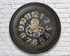 Industrial retro look  gold letter tyre clock- wall clock  54cm