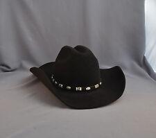 9713d81e90238 RESISTOL COWBOY HAT - BRADFORD WESTERN - 3X QUALITY FELT - SIZE 7 - BLACK