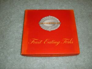 Silverpride Plate EPNS A1 x6 Fruit Eating Forks in Original Box