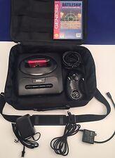 Sega Genesis All Original bundle Console & controller & Game Gear Bag + 2 Games