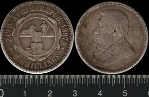 South Africa: 1897 2 Shillings silver Zuid Afrikaans Republic ZAR Kruger