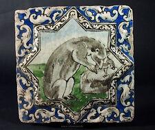 Antik islámicos Qajar estrella relief cerámica loseta mosaico Islamic tile-J