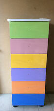 Settimino,mobile  in melaminico in colore multicolor da cm 45
