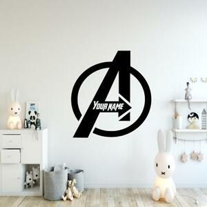 Marvel Avengers Logo personalise- Vinyl Wall Art - Decal Sticker Boys Room Child