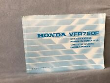 Honda VFR750F Owners Manual