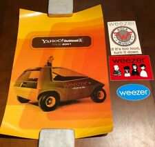 Vintage Weezer Bundle: The Get Up Kids Poster, Postcard, and Two Stickers (2001)