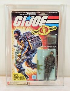 Original 1984 GI Joe Cobra Saboteur Firefly Sealed AFA 80