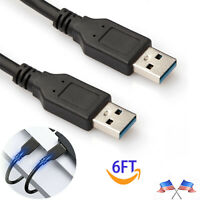 6FT USB A to USB A Cable USB 3.0 Type A Male to Male Cable Cord Data Transfer US