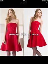 Armani Collezioni Pieced Silk Strapless Red Dress Size42EUR RRP £1,200