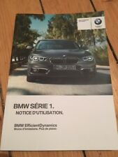 Manuel Notice D Utilisation BMW Série 1