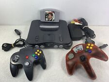 Nintendo N64 Console System Tested w James Bond 007 2 Controllers Read Descripti