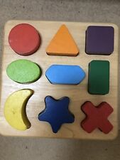 Pintoy Shape Matching Board Wooden