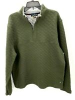 Tailor Vintage Men's Green Quilted 1/4 Zip Pullover Sweater Size XL NEW