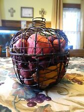 metal wire apple with potpourri dried like apples & cinnamon filled fall kitchen