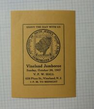 1947 S Jersy Stamp Club Camden Nj Event Souvenir Ad
