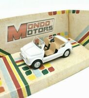 Model Car Fiat 500 Cabrio Cabriolet White Scale 1/43 diecast vehicles