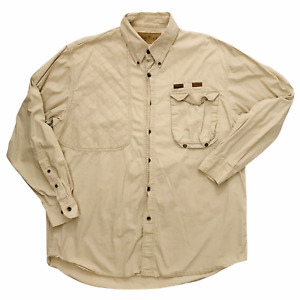 VTG Men Lewis Creek Brown Country Quilt Outdoor Work Shirt L Hunting Button Down