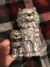 1975 Goebel Germany Cat Figurine Mother and baby Grey tabby style