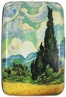 "Fine Art Armored Metal Wallet Credit Card Case - Van Gogh's Cypress - 4.2""x 2.9"""