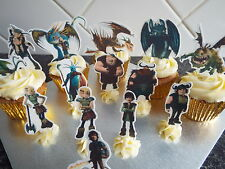 14 How To Train Your Dragon  **WAFER** Cupcake Toppers **STAND UPS*