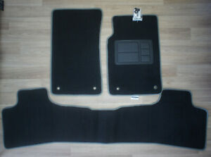 Car Floor Mats Custom Made Front & Rear w/Grey Binding for Holden Commodore VE