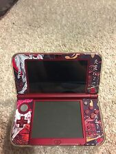 3ds xl red with Okami Okamiden Wolf God sticker&screen, outer protector&adapter