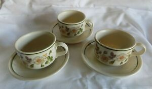 """MARKS & SPENCER """"AUTUMN LEAVES"""" LARGE BREAKFAST  Cups and Saucers x 3"""