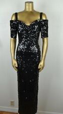 New listing Vintage 80'S Sz S Fully Sequined Off Shoulder Gown Modi Form Fitting