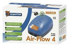 SuperFish Air-Flow 4  Membranpumpe Luftpumpe Aquarium / Teich  - 10 Liter / Min.