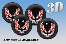 PONTIAC FIREBIRD wheel center cap decals emblems stickers 4 pcs :Any size: r/w/b