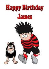 """Personalised Printed """"Dennis The Menace"""" Birthday Card ~ Any Name, Age, Message"""
