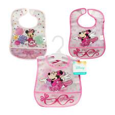 New 2 Pack Minnie Mouse Crumb Catcher Bib