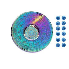 Twelve Constellations Rainbow Wheel Style Releasing Fidget Spinner - Multicolor