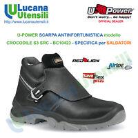 UPOWER SCARPA ANTINFORTUNISTICA SALDATORI CROCODILE S3 SRC Lavoro Unisex Scarpe